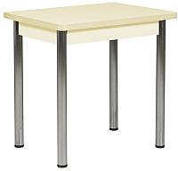 Обеденный стол Рамзес Ломберный ЛДСП 60x80 (ваниль/хром) -