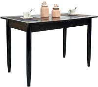 Обеденный стол Рамзес Раздвижной прямоугольный ЛДСП 110-140x70 (венге/ноги конусные венге) -