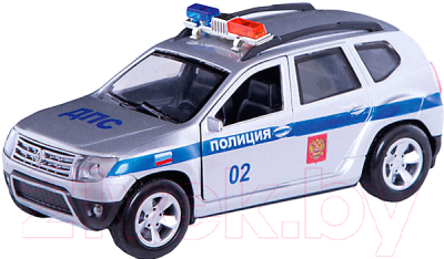 Масштабная модель автомобиля Технопарк Renault Duster Полиция / DUSTER-P