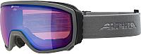 Маска горнолыжная Alpina Sports 2019-20 Scarabeo QHM S2 L50 / A7255834 (серый/синий) -
