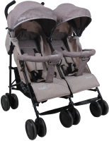 Детская прогулочная коляска INDIGO Duet (коричневый) -