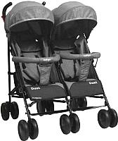 Детская прогулочная коляска INDIGO Duet (серый) -