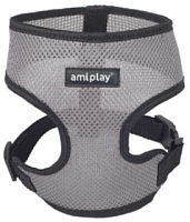 Шлея-жилетка для животных Ami Play Scout Air (L, серый) -