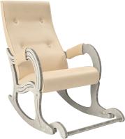 Кресло-качалка Импэкс Комфорт 707 (дуб шампань с патиной/Polaris Beige) -