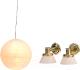 Комплект аксессуаров для кукольного домика Lundby Люстра с абажуром и настенные бра / LB-60604400 -