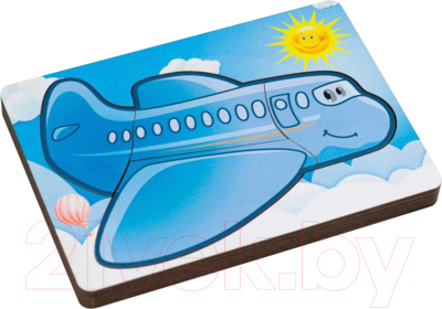 Развивающая игрушка Paremo Вкладыши. Самолетик / PE720-09
