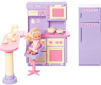 Комплект аксессуаров для кукольного домика Огонек Кухня Маленькая принцесса / С-1438 -