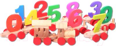 Развивающая игрушка Paremo Деревянный паровозик с цифрами / PE817-6