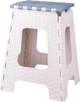 Табурет складной Альтернатива Плетенка большой / М7095 (серый/синий) -