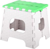 Табурет складной Альтернатива Плетенка малый / М7118 (бежевый/зеленый) -