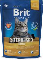 Корм для кошек Brit Premium Cat Sterilised Duck с уткой, курицей и куриной печенью (1.5кг) -