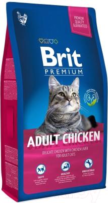 Корм для кошек Brit Premium Cat Adult Chicken / 513086