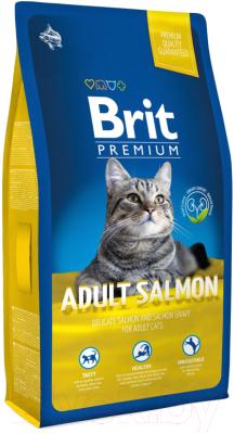 Корм для кошек Brit Premium Cat Adult Salmon / 513123