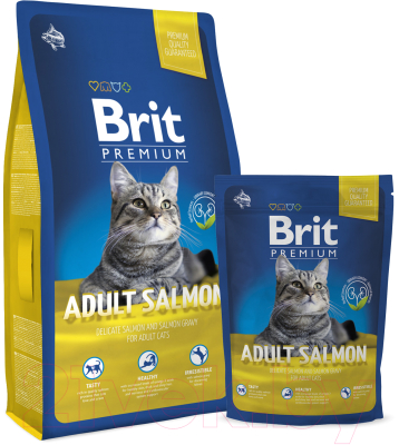 Корм для кошек Brit Premium Cat Adult Salmon / 513123 (1.5кг)