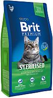 Корм для кошек Brit Premium Cat Sterilised курицей и печенью / 513161 (1.5кг) -