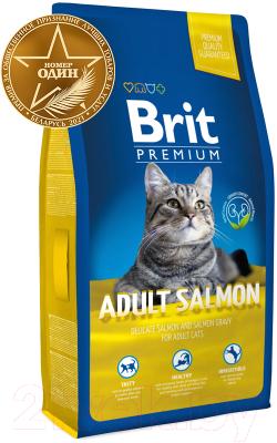 Корм для кошек Brit Premium Cat Adult Salmon / 513130