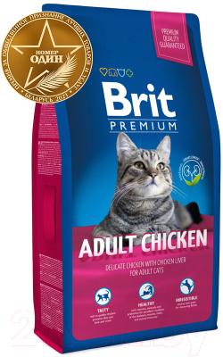 Корм для кошек Brit Premium Cat Adult Chicken / 513093