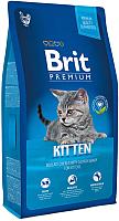 Корм для кошек Brit Premium Cat Kitten с курицей в лососевом соусе / 513055 (8кг) -