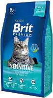 Корм для кошек Brit Premium Cat Sensitive с ягненком / 513215 (8кг) -