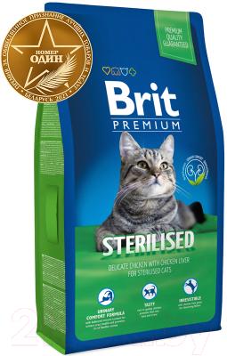 Корм для кошек Brit Premium Cat Sterilised с курицей и печенью / 513178