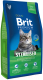 Корм для кошек Brit Premium Cat Sterilised с курицей и печенью / 513178 (8кг) -