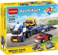 Конструктор Jisi Bricks Транспорт 3 в 1 / 3114 -