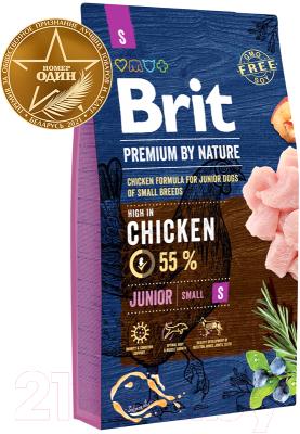 Корм для собак Brit Premium by Nature Junior S / 526246