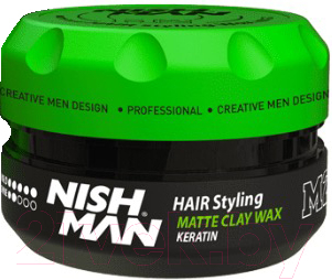 Глина для укладки волос NishMan M2 Hair Matte Clay матовая (100мл)