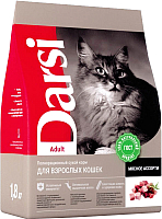 Корм для кошек Darsi Adult Мясное ассорти / 37148 (1.8кг) -