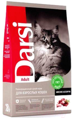 Корм для кошек Darsi Adult Мясное ассорти / 37179 (10кг)