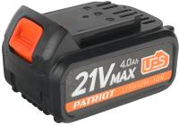 Аккумулятор для электроинструмента PATRIOT BR 21V Max Li-ion 4.0Ah Pro UES -