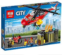 Конструктор Lepin Cities. Пожарная команда быстрого реагирования / 02046 -