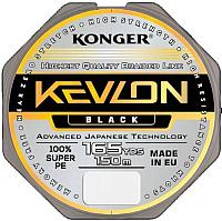 Леска плетеная Konger Kevlon X4 Black 0.10мм 150м / 250151010 -