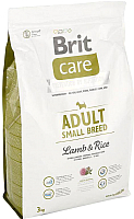 Корм для собак Brit Care Adult Small Breed Lamb & Rice / 132707 (3кг) -