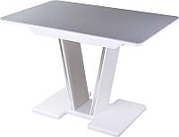 Обеденный стол Домотека Румба ПР 70х110-147 (серый/белый/03) -