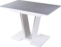 Обеденный стол Домотека Румба ПР-1 80х120-157 (серый/белый/03) -