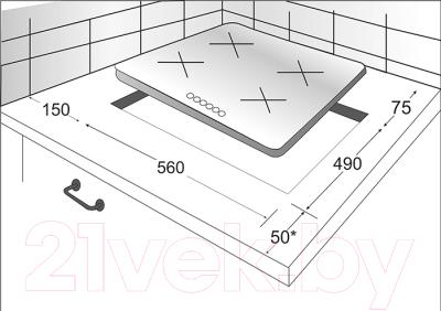 Комплект встраиваемой техники Exiteq EXO-103 + PFH640STGB-E/B