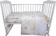 Комплект постельный в кроватку Эдельвейс Друзья 3 (бязь, бежевый) -