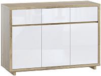 Комод Woodcraft Аспен 2413 (дуб галифакс натуральный/белый альпийский) -