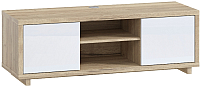 Тумба Woodcraft Аспен 2415 (дуб галифакс натуральный/белый альпийский) -