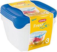 Набор контейнеров Curver Fresh&Go 08560-139-00 / 182220 (синий/прозрачный) -