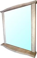 Зеркало Гамма Люкс 4 (камень светлый) -