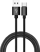 Кабель Atom USB Type-C 3.1 - USB А 3.0 (1.8м, черный) -
