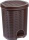 Мусорное ведро Эльфпласт Elegance EP337 с педалью (18л, коричневый) -