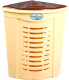 Корзина для белья Эльфпласт EP081 угловая (45л, бежево-коричневый) -