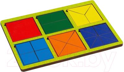 Развивающая игрушка Paremo Вкладыши 6 квадратов / PE720-31