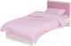 Односпальная кровать ABC-King Фея 90x190 / FA-1004-190-P (белый с розовой кожей) -