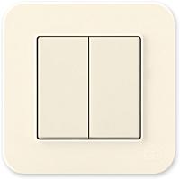 Выключатель Gunsan Eqona 01401200-150103 (кремовый) -