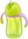 Поильник Happy Baby 14010 (зеленый, с трубочкой и ручками) -