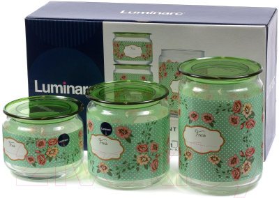 Набор емкостей для хранения Luminarc Mint Green P9215